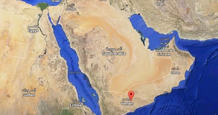 La ciudad de Wadi Dawan (Yemen) mapa